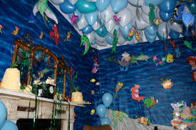 top little mermaid birthday party decoration ideas images home