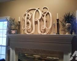 large wood monogram etsy