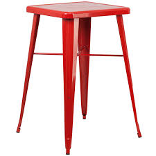 metal bar table set awesome 2375 square red metal indoor outdoor bar table set with 2