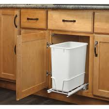 kitchen cabinet trash pull out pull out trash cans kitchen cabinet organizers the home depot
