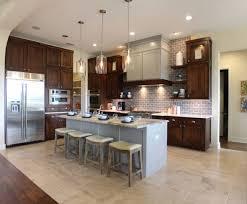 backsplash gray kitchen walls brown cabinets gray kitchen