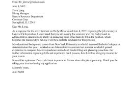 valuable inspiration general cover letter for resume 11 writing