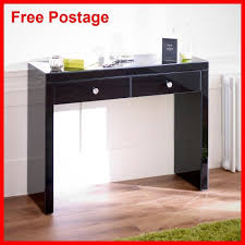 modern black dressing table mirrored dressing table black modern console desk vanity make up