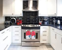 black tile backsplash home u2013 tiles