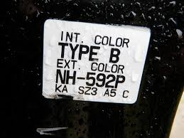 how to find the paint code and interior trim code on your honda or