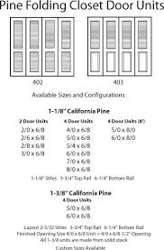 Closet Door Opening Size Closet Doors