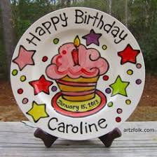 personalized birthday plate painted ceramic birthday plate this would be for each kiddo
