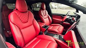 bentley bentayga red interior tesla model x with premium interior listed at 180 000 on ebay