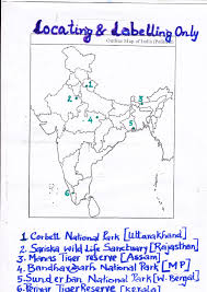 Blank Map Of India by Geography Class X Map National Parks Wildlife Sanctuaries