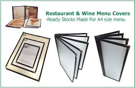 Restaurant Menu Covers Menu Covers Singapore Google