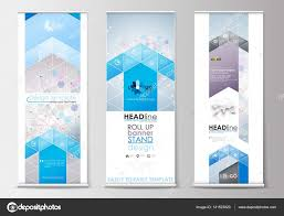 Stand Up Flag Banners Set Of Roll Up Banner Stands Flat Design Templates Abstract