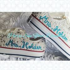 Wedding Shoes Converse Gorgeous Bridal Pearl And Crystal Rhinestone Custom Converse