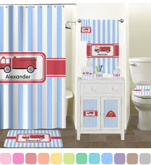 Bathroom Accessory Sets With Shower Curtain by Firetruck Bathroom Accessories Set Personalized Potty Training
