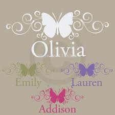 28 personalized name stickers for walls wall decals personalized name stickers for walls creative personalized custom name butterfly wall stickers