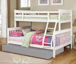 American Woodcrafters Loft Bed Chapman Twin Over Full Bunk Bed White Kids Loft And Bunk Beds
