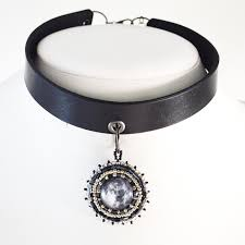 moon choker necklace gothic jewelry twisted pixies