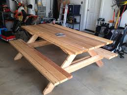 How To Make A Benchless Picnic Table by Build A Picnic Table Plans Dining Table Ideas