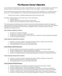 resume exles objective for any position application resume job career objective exle exles of resumes for free