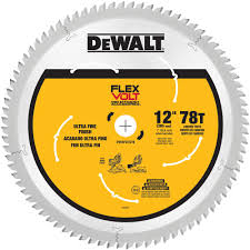 Miter Saw For Laminate Flooring Dewalt Flexvolt 12 In 78 Teeth Miter Saw Blade Dwafv31278 The