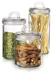 canister kitchen set amazon com home loop canister set of set of 3 clear glass