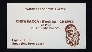 offensive business cards if wars characters had business cards they would look like