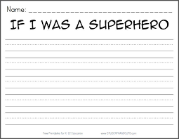 if i was a superhero free printable k 2 writing prompt student