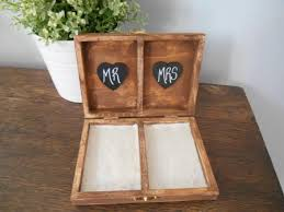 engraved pillows rustic personalized ring box his and s custom color engraved