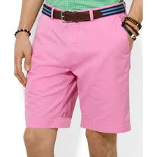 light pink shorts mens lyst ralph lauren polo classicfit lightweight chino shorts in pink