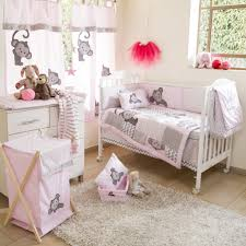 confortable pink monkey bedding fancy interior design ideas for