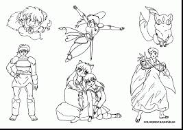 impressive inuyasha coloring pages with character coloring pages