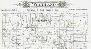 Illinois Map By County by 1895 Atlas Of Fulton County Illinois Woodland Township