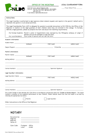 Sample Of Legal Guardianship Letter by 10 Guardianship Forms Guardianship Affidavit Guardianship