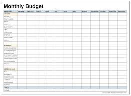 Monthly Home Budget Spreadsheet Budget Template Virtren Com
