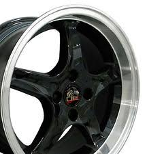 Black Mustang Wheels 4 Lug Mustang Wheels Ebay