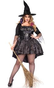 plus size renaissance halloween costumes p u003estir up some potions in this plus size women u0027s black magic