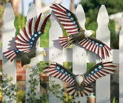 patriotic eagle outdoor fence decor patriotic decorations