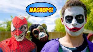 joker vs zombie scream death gorilla halloween scare special