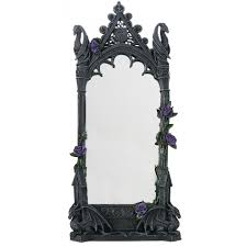 dragon beauty gothic wall mirror