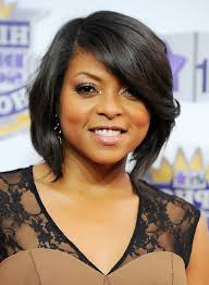 taraji p henson short angled bob haircut for black women styles