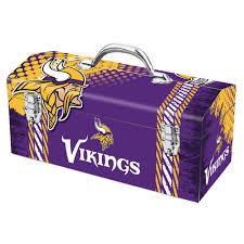 minnesota vikings home decor team promark 7 2 in minnesota vikings nfl tool box 79 317 the
