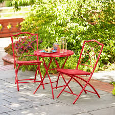 Retro Patio Furniture Sets - hd designs outdoors orchards 3 piece folding bistro set apple