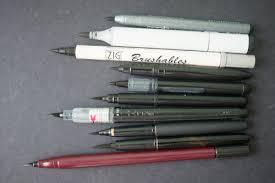 brush pen comparison for drawing purposes parka blogs