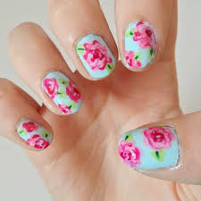 rose nail art cute nails