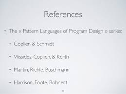 pattern language of program design design patterns