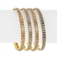 multi tone gold bracelet images Muti tone gold bangles set raj jewels jpg