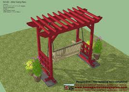 pergola swing plans home garden plans sw100 arbor swing plans swing woodworking