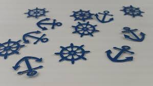 Nautical Baby Shower Decorations - nautical baby shower decoration anchor confetti anchor party