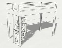 loft bed foldable wood stair 8 steps with pictures