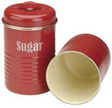 vintage kitchen sugar canister with airtight lid red buy