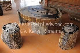 petrified wood table set petrified wood indonesia
